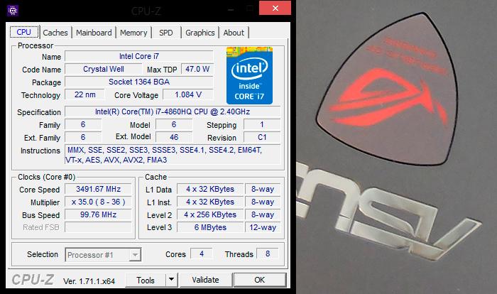 ASUS ROG G751JY-DH72X cpu