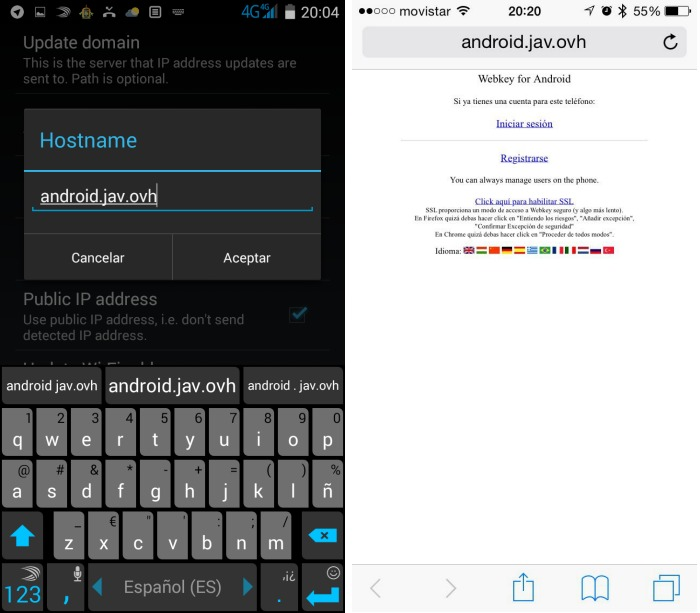 dynamic DNS Client for Android