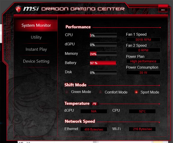 MSI GP72 Leopard Pro-002 performance
