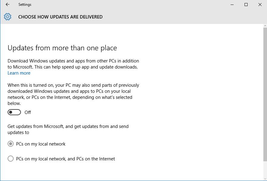 Set Privacy in Windows 10