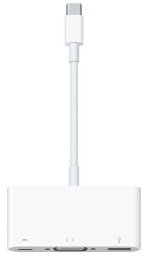 Multiport USB-C to VGA adapter