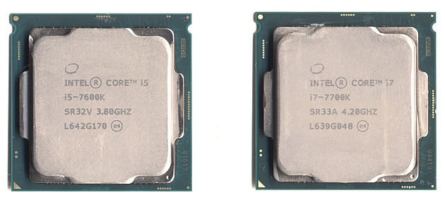 Intel Core i5-7600K vs. i7-7700K