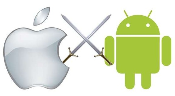 iPhone vs Android smartphone