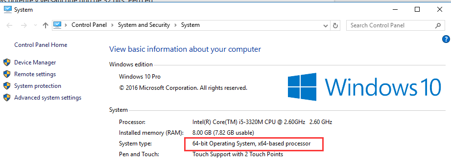 32-bit vs. 64 bit Windows 10
