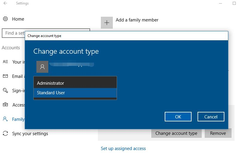 Windows 10 account