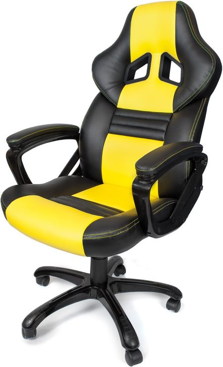 The Arozzi Monza Is A Cool Gaming Chair Which Has Racing Inspired Look Of High Quality And With Thick Padding For Wrists Arms As Well On