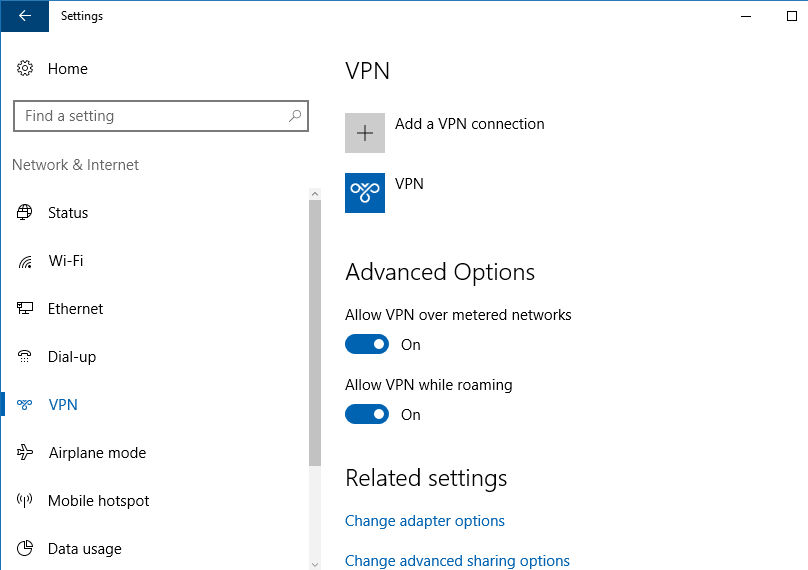 Windows 10: how to connect to a free VPN without going through third